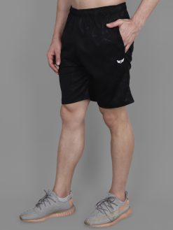 MANHOOD Men's Synthetic Lycra Regular Fit Stretchable Casual Wear Active Wear Box Print Pocket Shorts for Gym Yoga Summer Sports Running